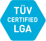 Icon TÜV certified product