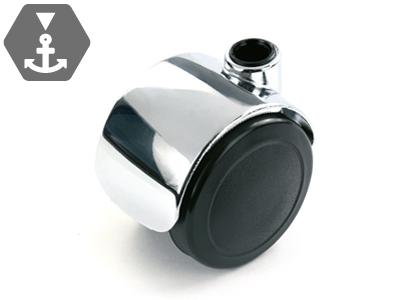 Stuhlrolle aus Polyamid mit Zink-Druckguss Gehäuse und Bremsfunktion