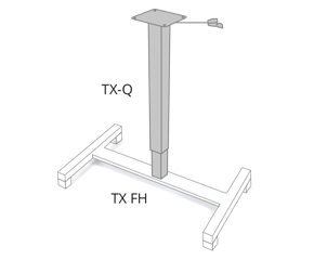 height-adjustable table column