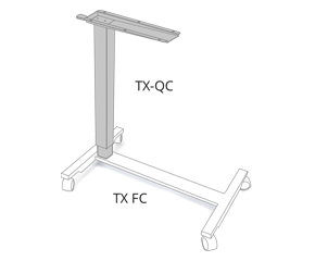 height-adjustable table column