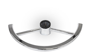 Steel foot ring for office chair and work chair