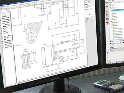 CAD Konstruktion von Aluminium und Kunststoff Teilen und Komponenten