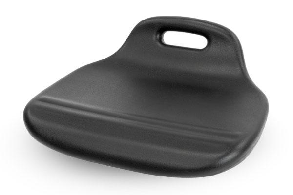 Hockersitz aus Polyurethan mit ergonomischer Sitzwölbung