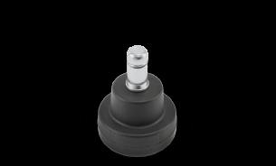 Dicker Kunststoff-Gleiter mit wählbarem Stift