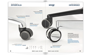 Stuhlrollen-Sortiment von proroll in einer Broschüre als zum Download