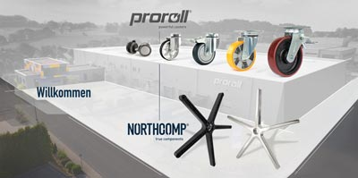 kółka producent proroll Niemcy od 1986 roku jakościowe kółka i zestawy kołowe i funkcjonalne komponenty krzeseł
