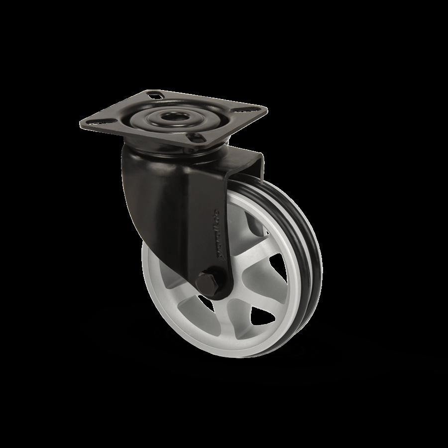 apparaterolle-253-2A11-aluminiumspeichen-schwarz-platte