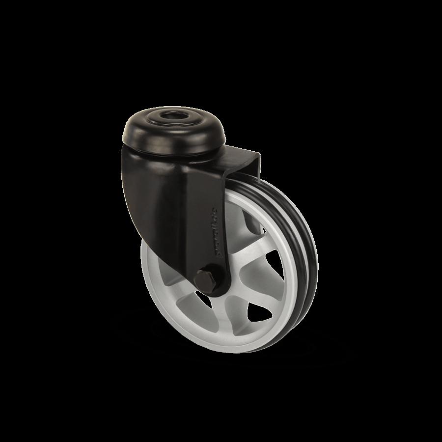 apparaterolle-253-2A11-aluminiumspeichen-schwarz-rueckenloch