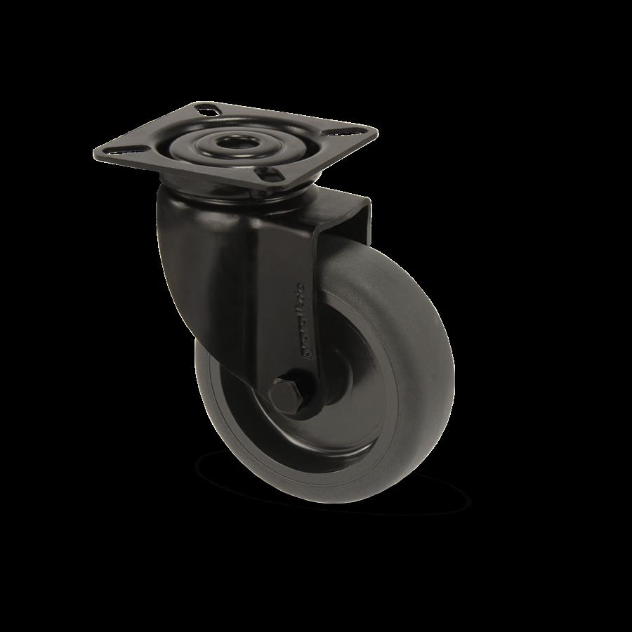 apparaterolle-253-2A4-kunststofffelge-schwarz-platte