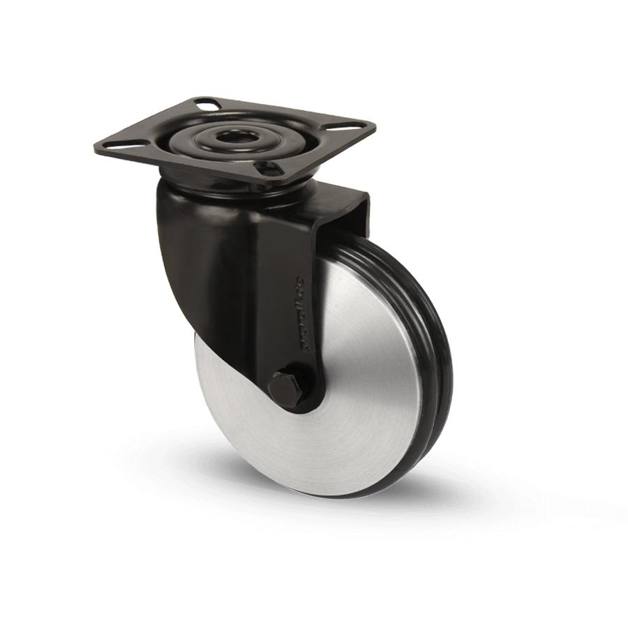apparaterolle-253-2A8-aluminiumrolle-schwarz-platte