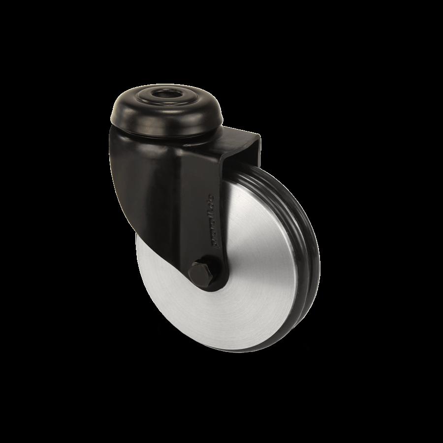 apparaterolle-253-2A8-aluminiumrolle-schwarz-rueckenloch