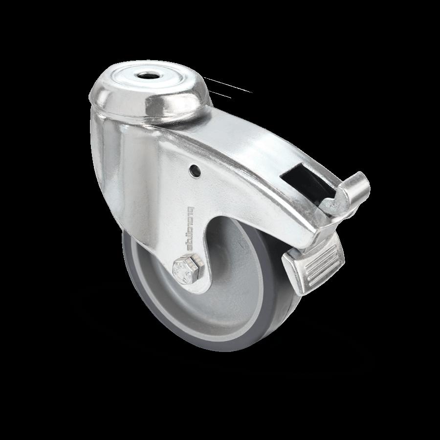apparaterolle-355-kunststofffelge-rueckenloch--feststeller