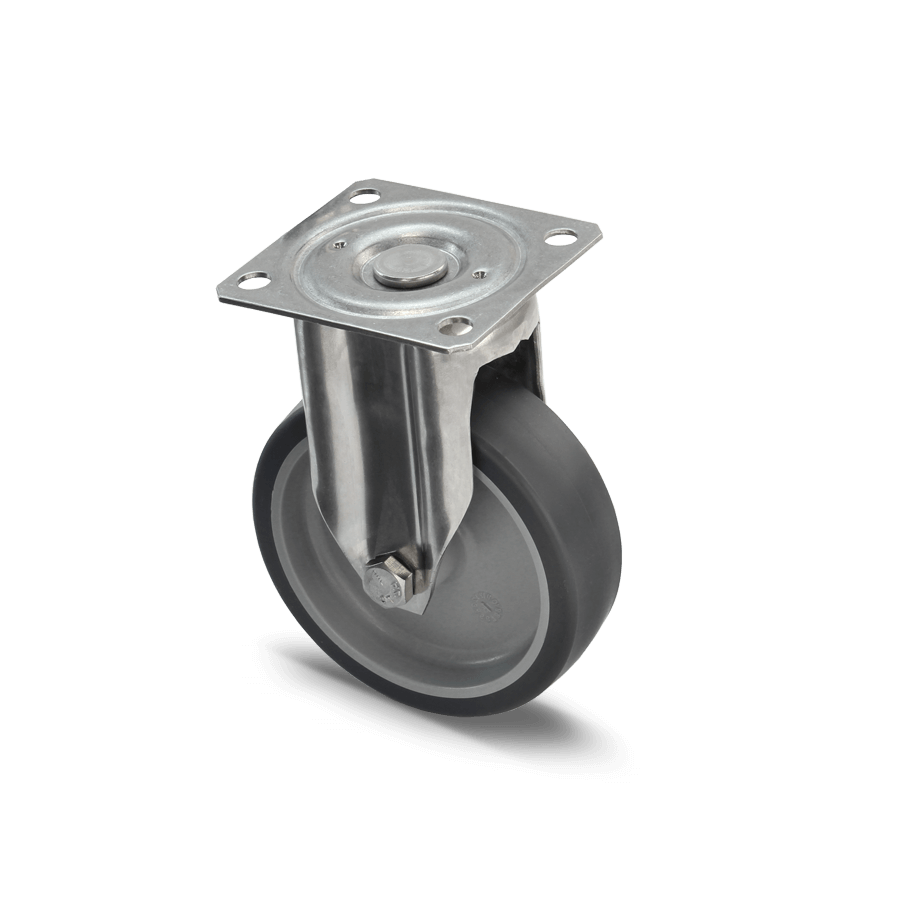 edelstahlrolle-2E1-350E-kunststofffelge-termoplastisches-gummi-bockrolle