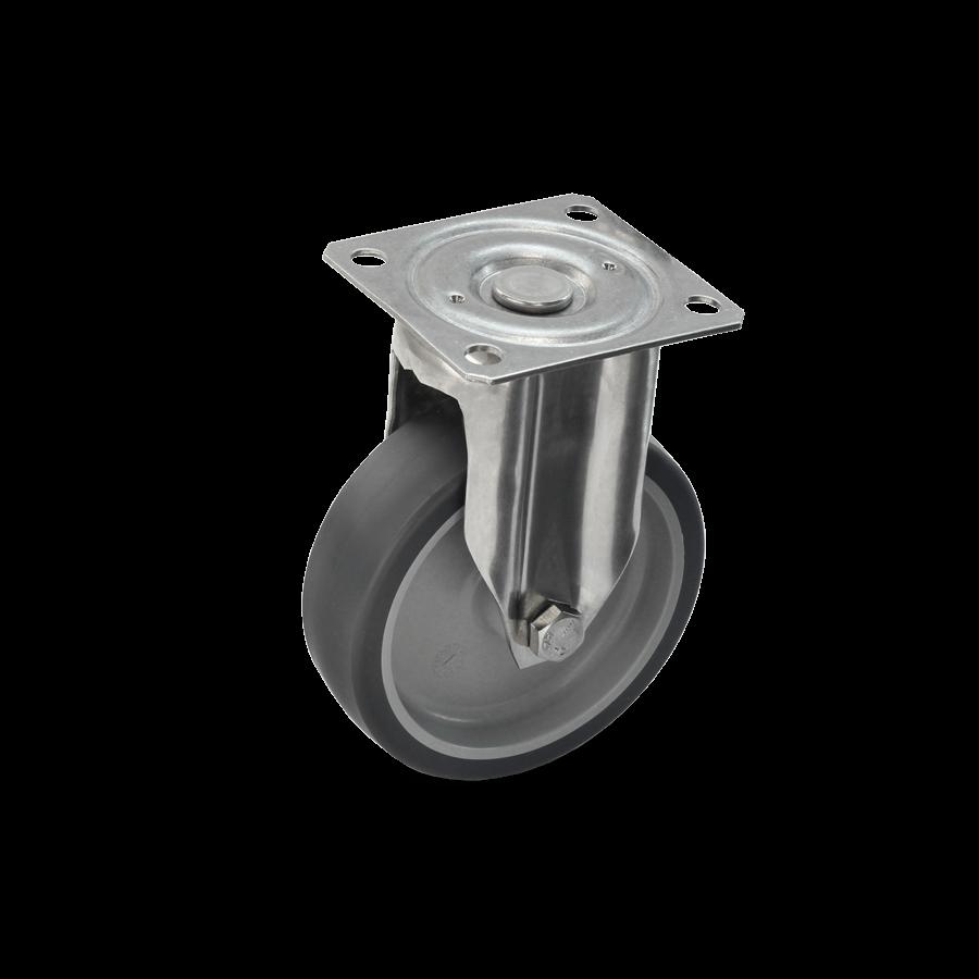 roestvrij staal rol-2E1-350E-kunststof velg-termoplast-rubber vaste rol