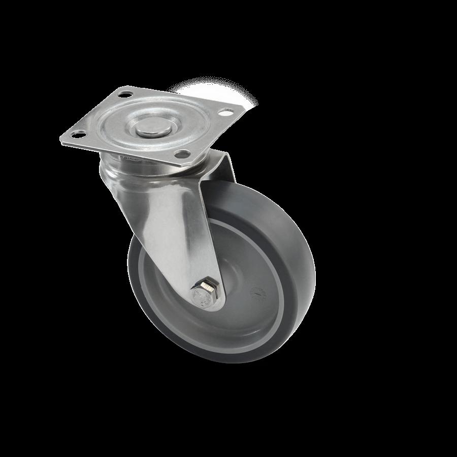 edelstahlrolle-2E1-350E-kunststofffelge-termoplastisches-gummi-platte