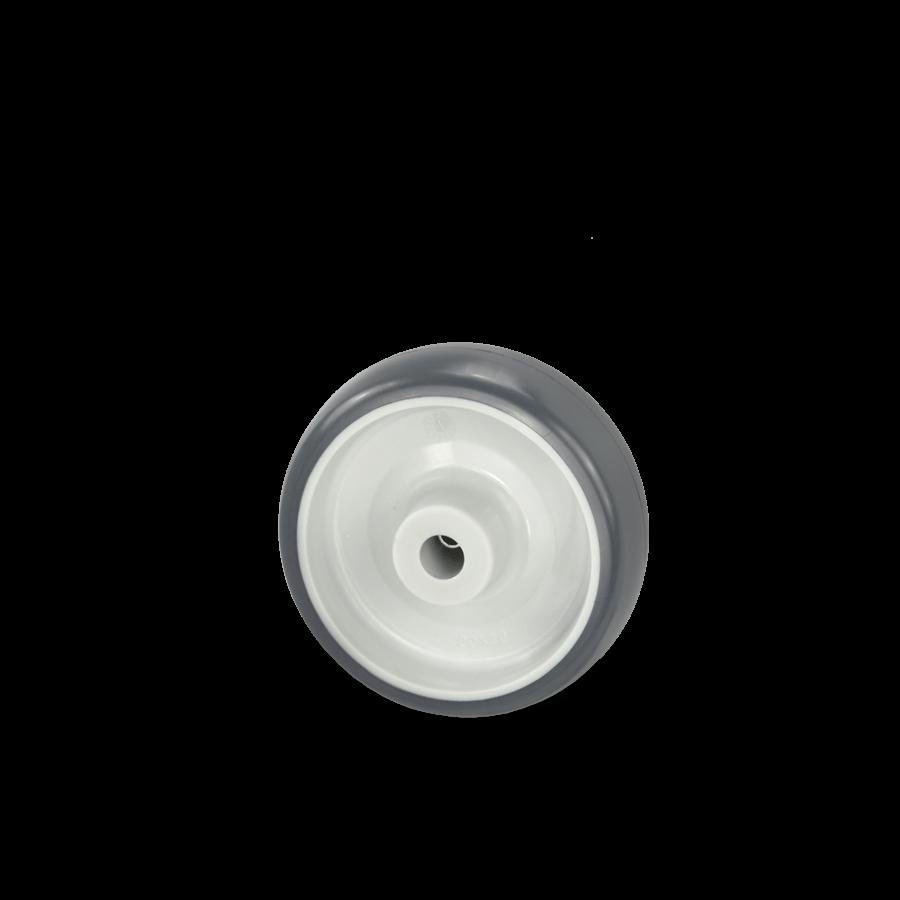 Rad mit Kunststofffelge und Polyurethanbandage