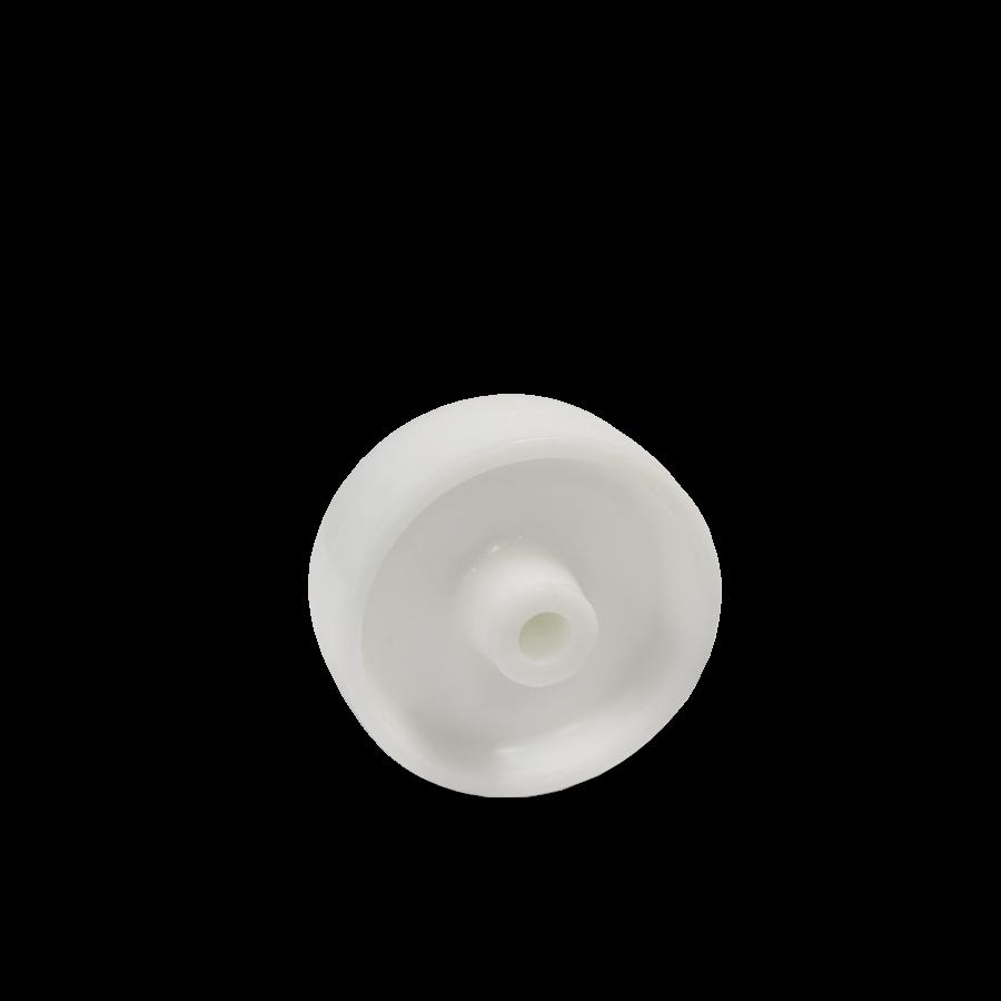 Weiße Kunststoffrolle