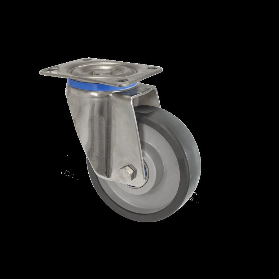 Rostfreie Edelstahlrolle mit Kugellagerrad für bis zu 500kg Belastung