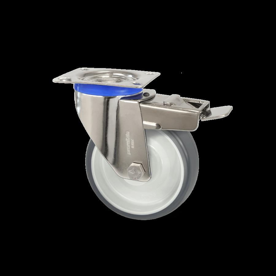 edelstahlrolle-2E3-450E-polyurethanbandage-gleitlager-feststeller