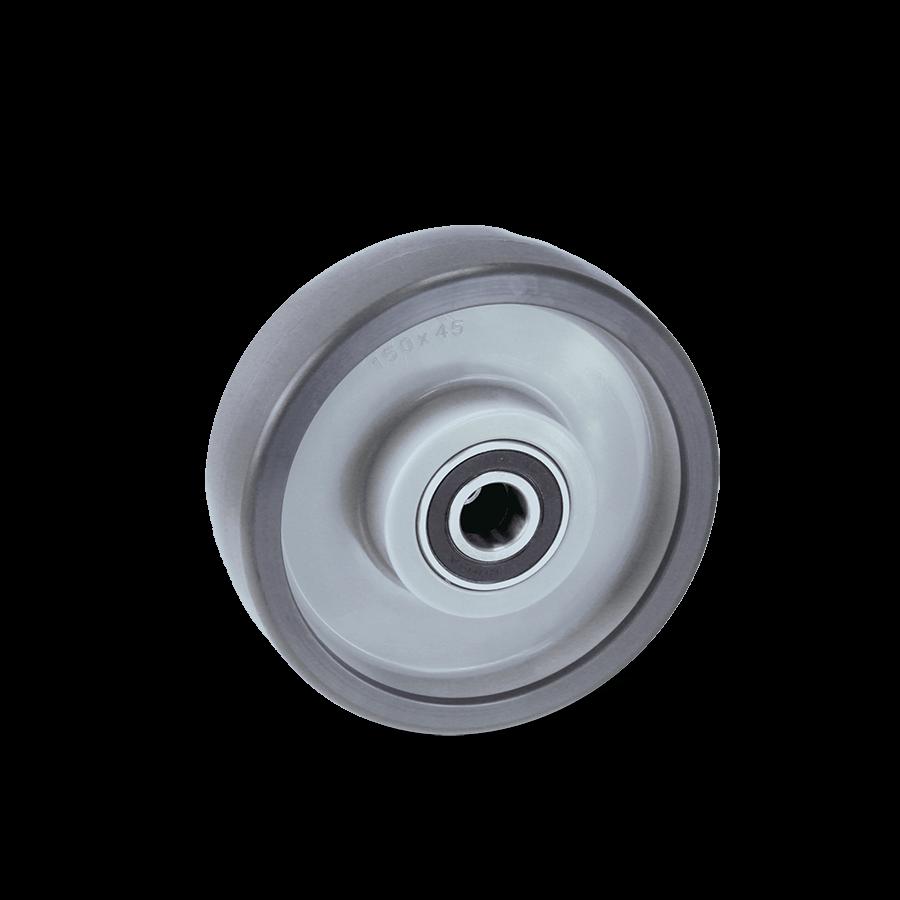 Schwerlastrolle mit Kugellager in grau