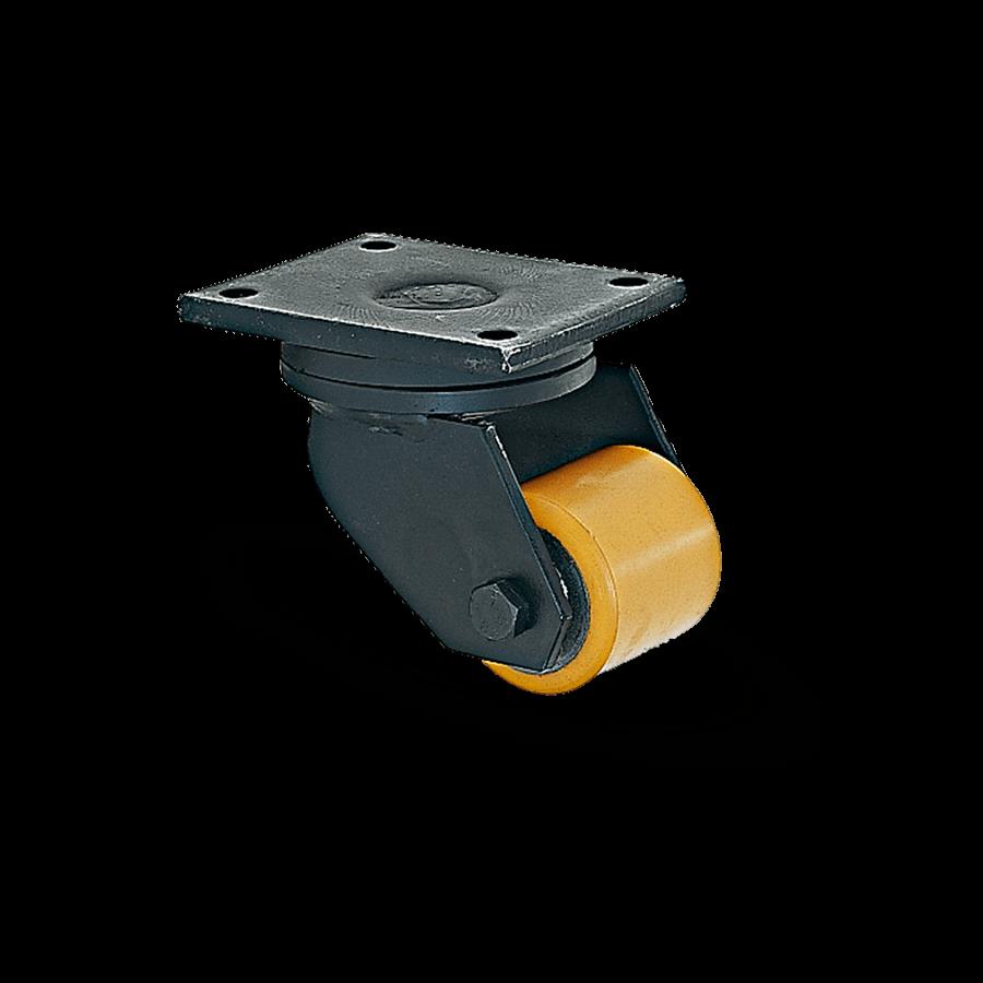 schwerlastrolle-2SCH11-950-gelb-polyurethanraeder-polyamidraeder-platte