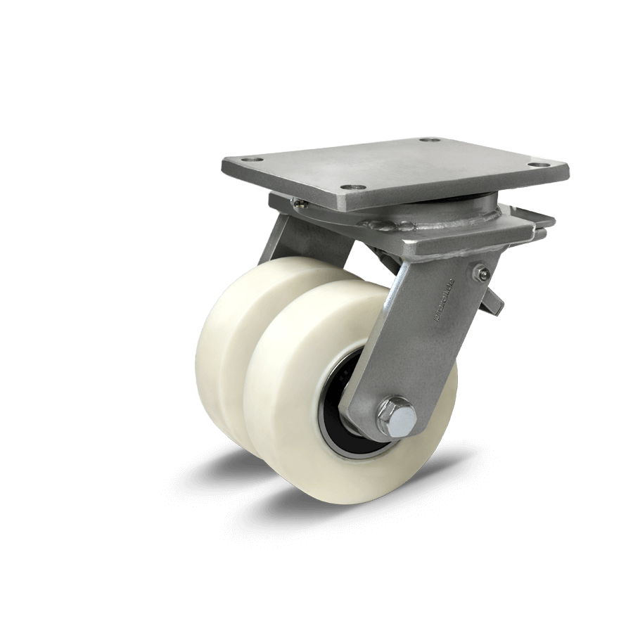 Super - Schwerlastdoppelrolle als Lenkrolle sowie Lenkrolle mit Radfeststeller oder Bockrolle