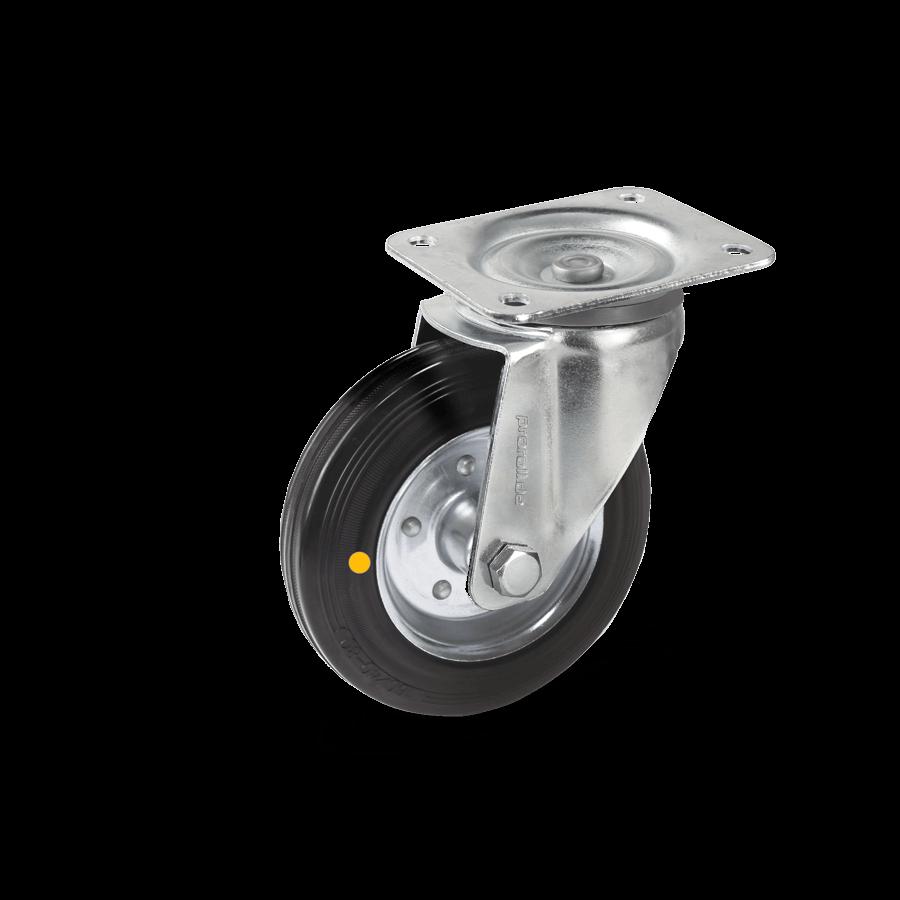 transportrolle-2T1-455-gummrad-elektrischleitfaehig-platte