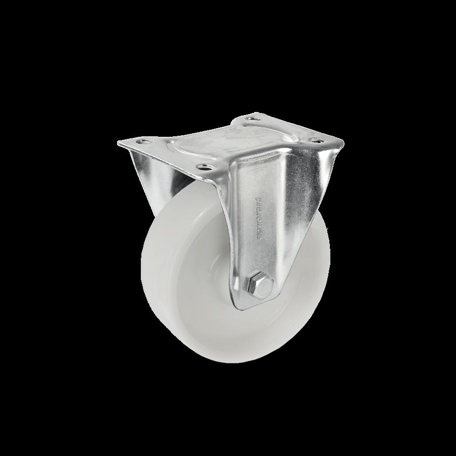 Bockrolle mit weißem Kunststoffrad