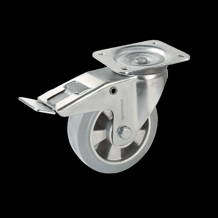 transportrolle-2T7-455-aluminiumfelge-vollgummibereifung-feststeller