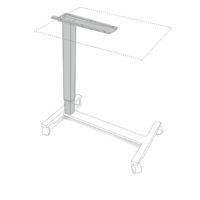 Height adjustable table column with mobile frame