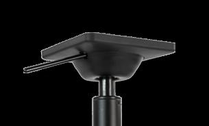 Neuartige Sitzmechanik die den Rücken ergonomisch unterstützt
