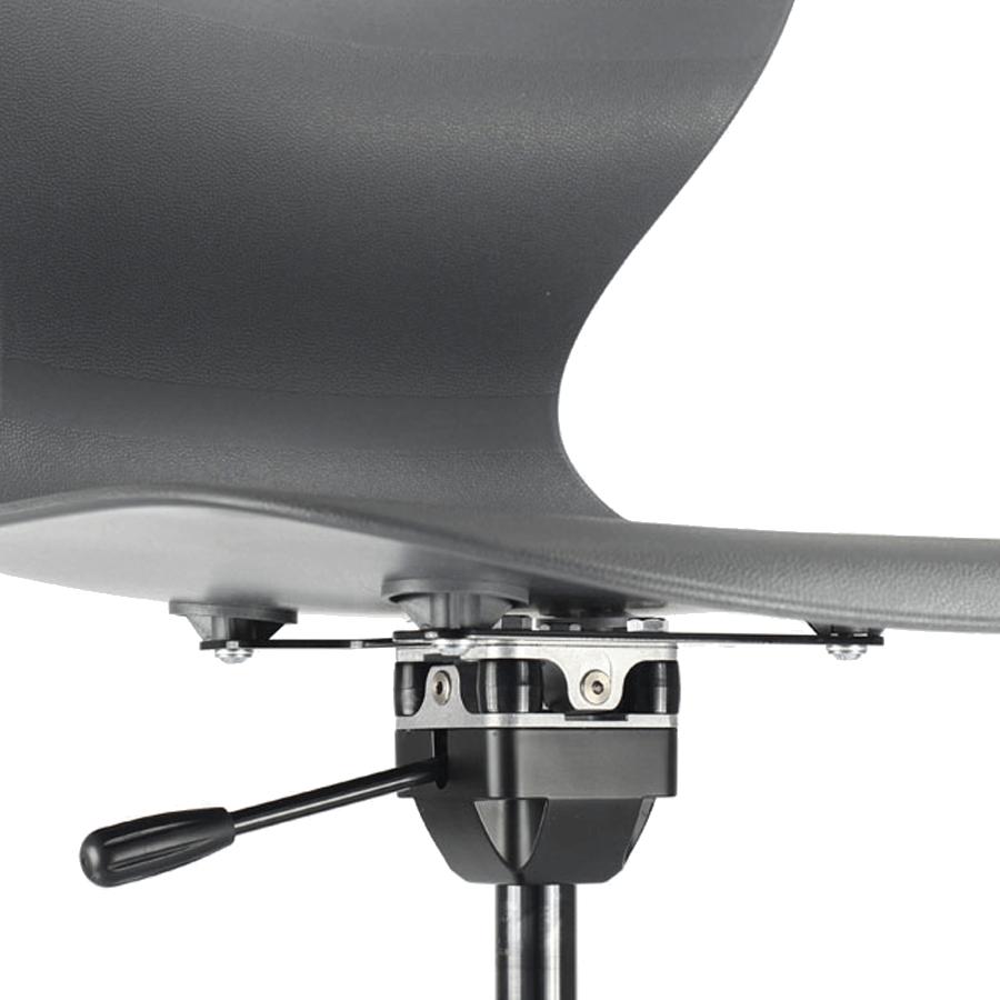 Fussteller mit beweglichem Element für einen ergonomischen Hocker oder einer Stehhilfe