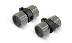 Furniture castors plastic twin castors with wheel lock in grey black