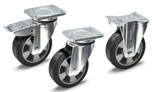 Design furniture castors with hole without axle
