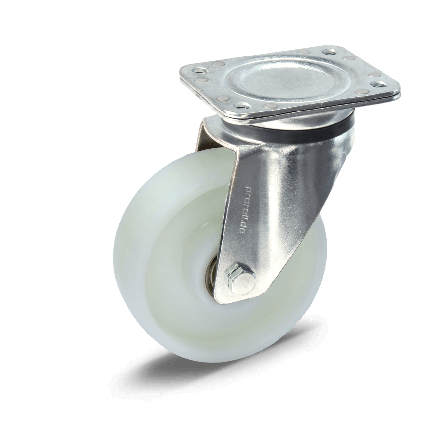 Heavy duty castor with ball bearing and polyamide wheels
