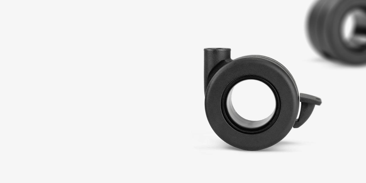 Møbelhjul til op til 50 kg i sort design af høj kvalitet